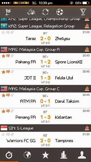 Keputusan Terkini Piala Malaysia 2014 30 Ogos 2014