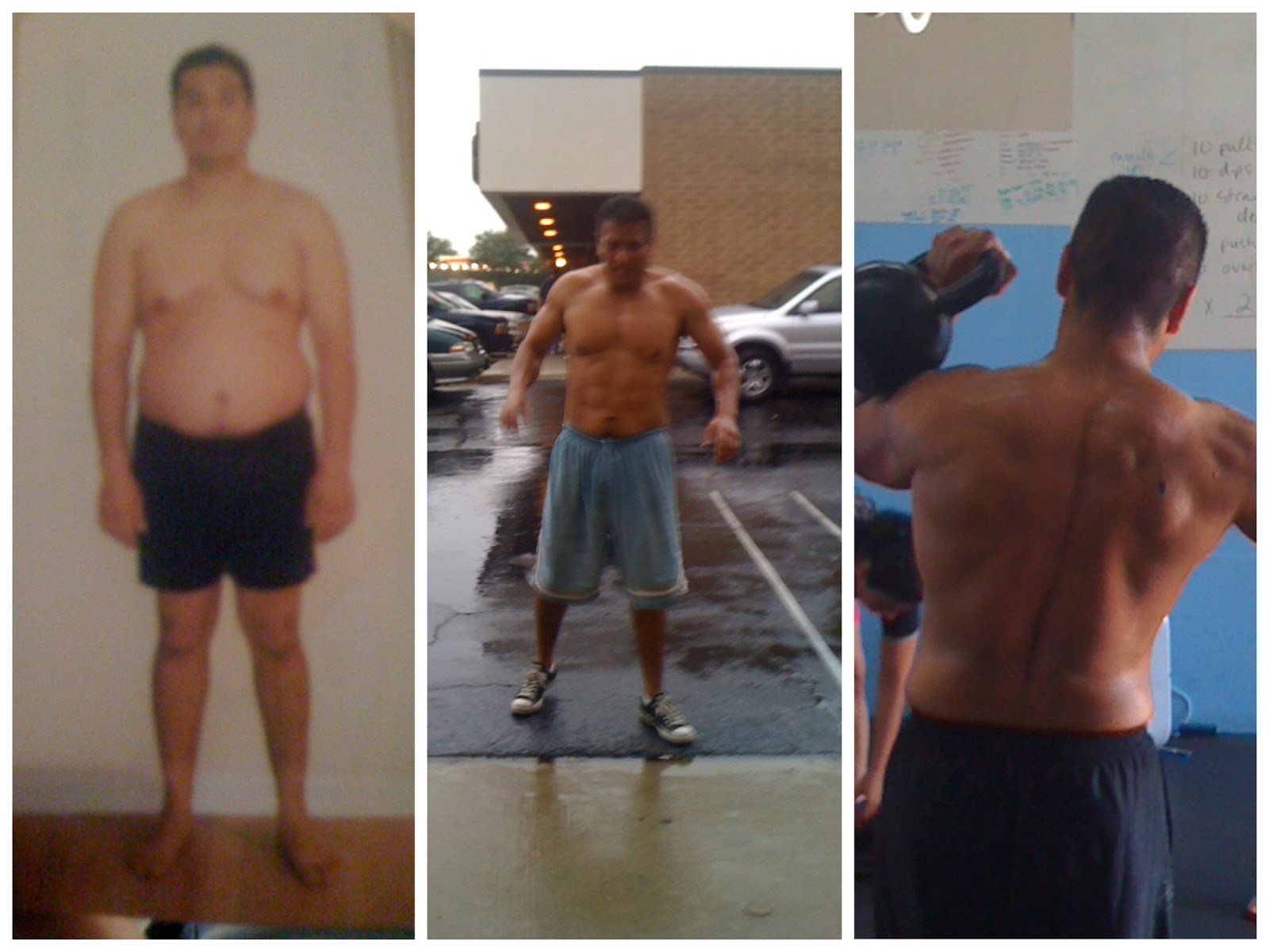 100 Squats A Day Before And After His before picture right