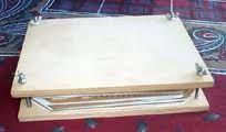 ejemplo de prensa casera para el prensado en la elaboracion artesanal del papel