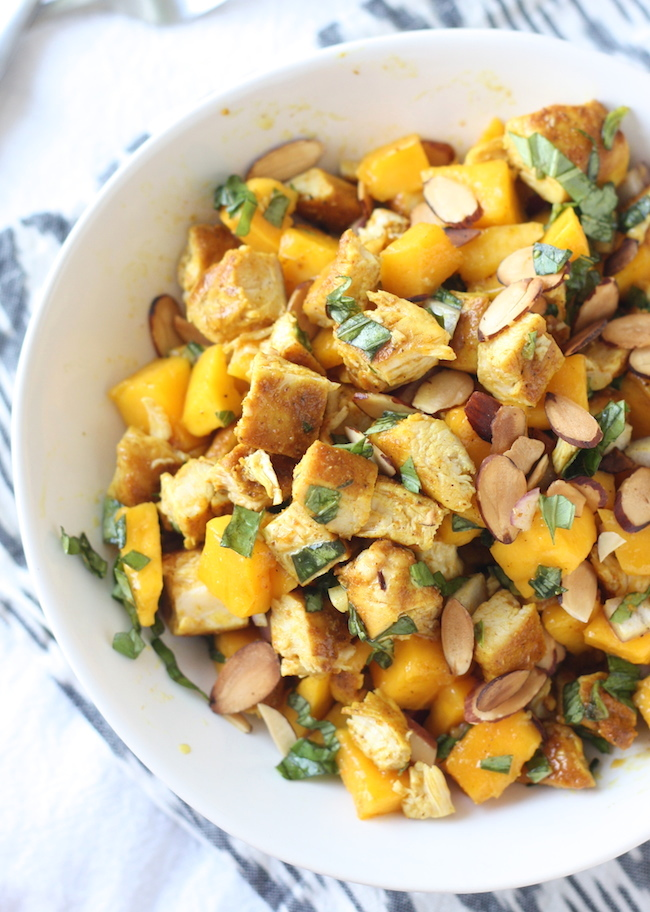 Curried Chicken Salad with Mango recipe by SeasonWithSpice.com
