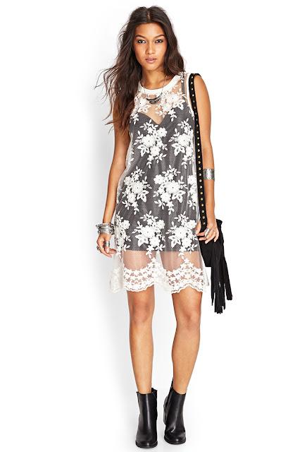 Floral Embroidered Mesh Dress at forever21.com