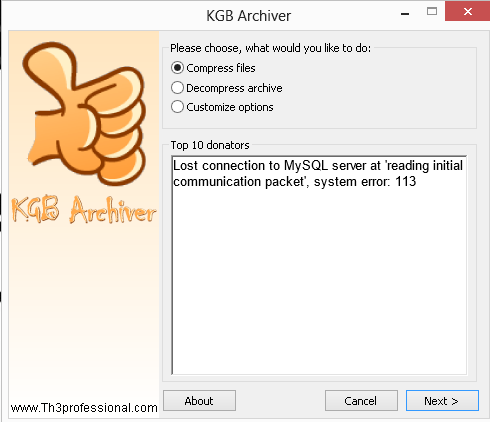 KGB archiver برنامج ضغط الملفات