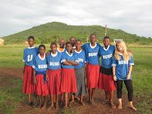 Girls Playing Soccer Barefoot