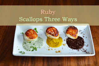 http://www.cookupromance.com/2014/07/03/ruby-sea-scallops-three-ways/