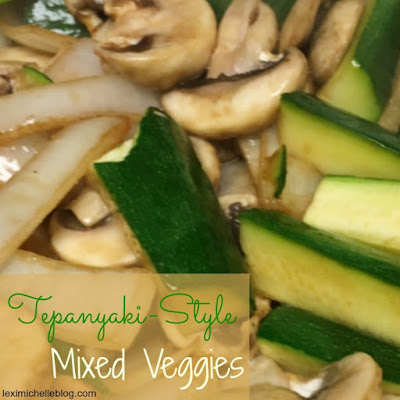 Tepanyaki Style Veggies- so good! Makes 4 generous servings. My husband & I devoured them all in minutes! No leftovers (macro/iifym friendly)