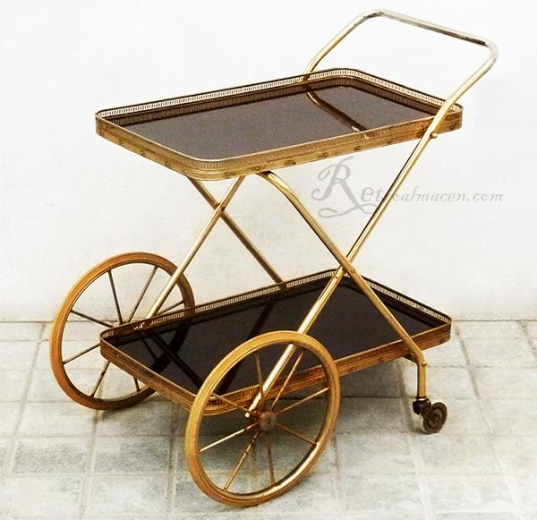 Retroalmacen tienda online de antig edades vintage y decoraci n camarera dorada antigua - Carrito camarera vintage ...