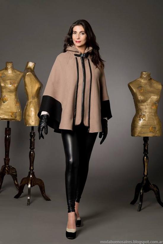 Chatelet invierno 2014 moda mujer capas.
