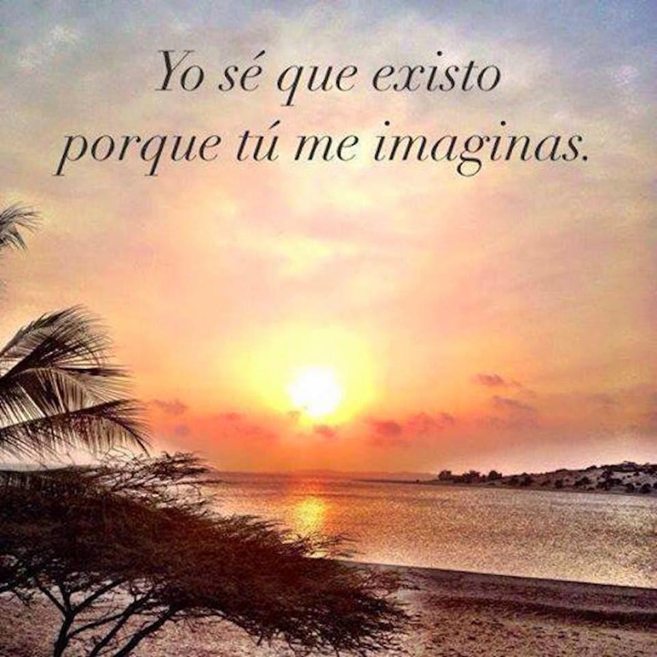 reflexiones se que existo porque tu me imaginas