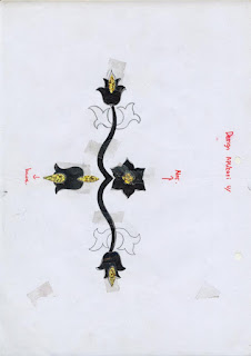 bordir bunga tulip