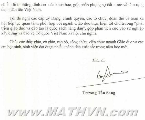 thu chu tich nuoc truong tan sang, nam hoc 2012-2013