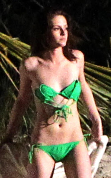 kristen stewart in a bikini with rob pattinson filming in st thomas april 23