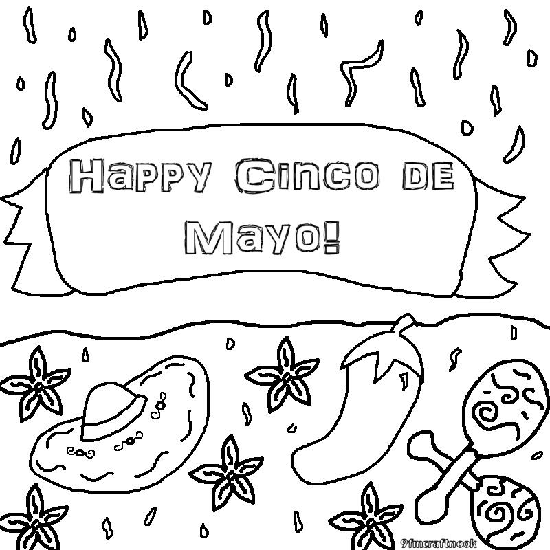 Mary S Craft Nook Cinco De Mayo Celebration Free Printables Free Printable Cinco De Mayo Coloring Pages