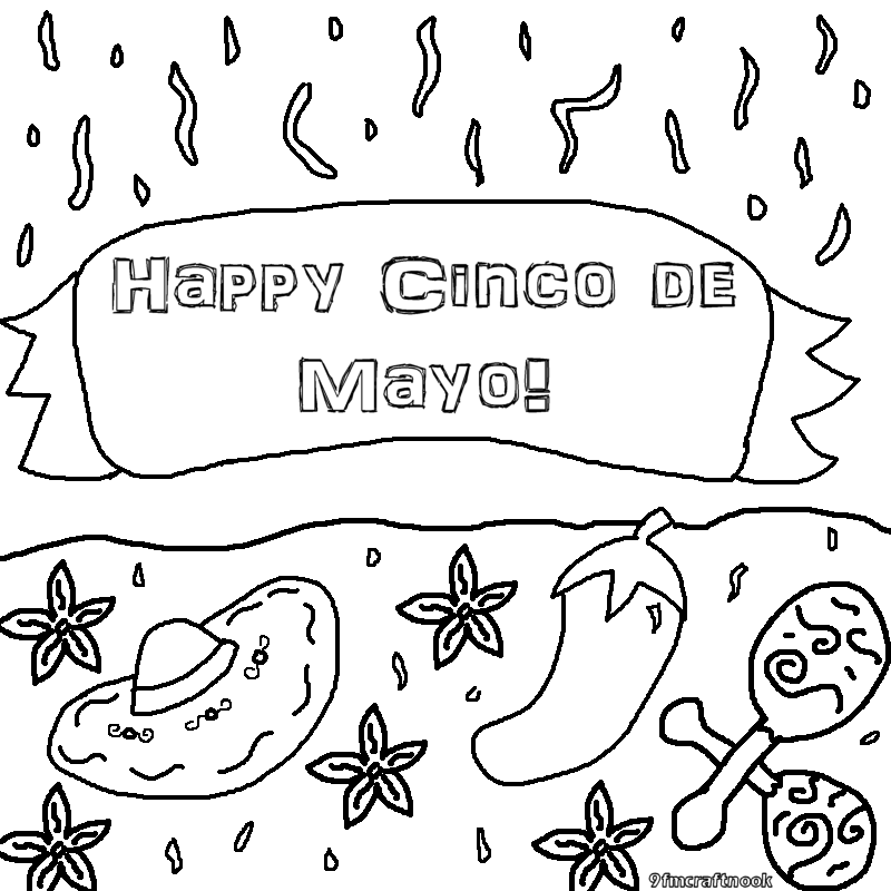 Cinco De Mayo Coloring Pages Coloring pages for cinco de