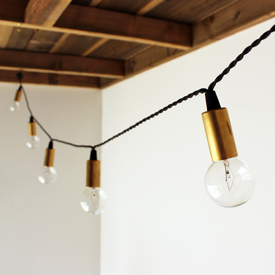 Handmade brass string lights by onefortythree