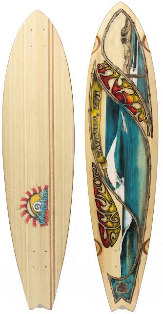 Bamboo Longboard Deck