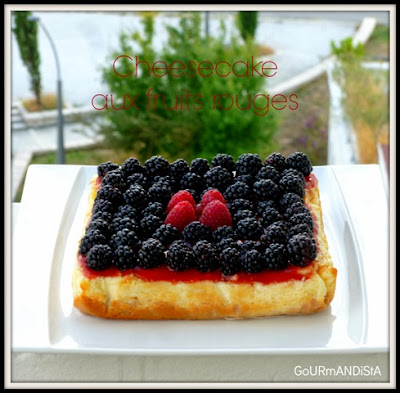 image Cheesecake aux fruits rouges