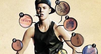 todas as tatuagens de Justin Bieber