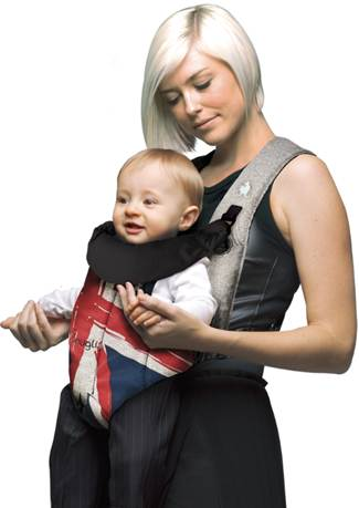 a4409545579 ... wardrobe with the Front Snugli Union Jack baby carrier. With a modern