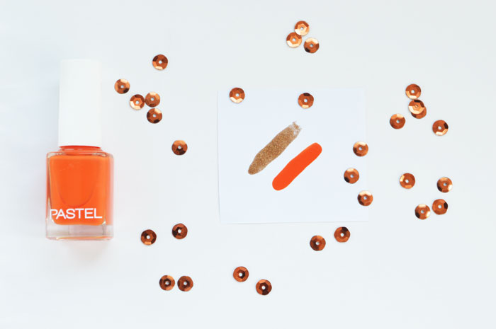 Orange and bronze mani #manimonday