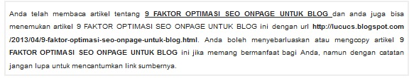 Contoh Permalink SEO Friendly