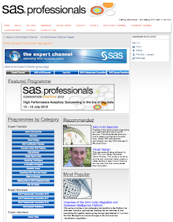 NOTE: The Expert Channel at SAS Professionals