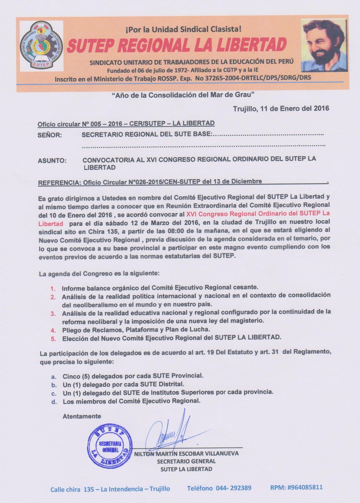 Las luchas del pueblo convocatoria al xvi congreso for Convocatoria maestros 2016