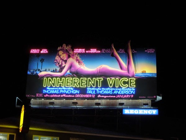 Special Inherent Vice neon billboard night Sunset Strip