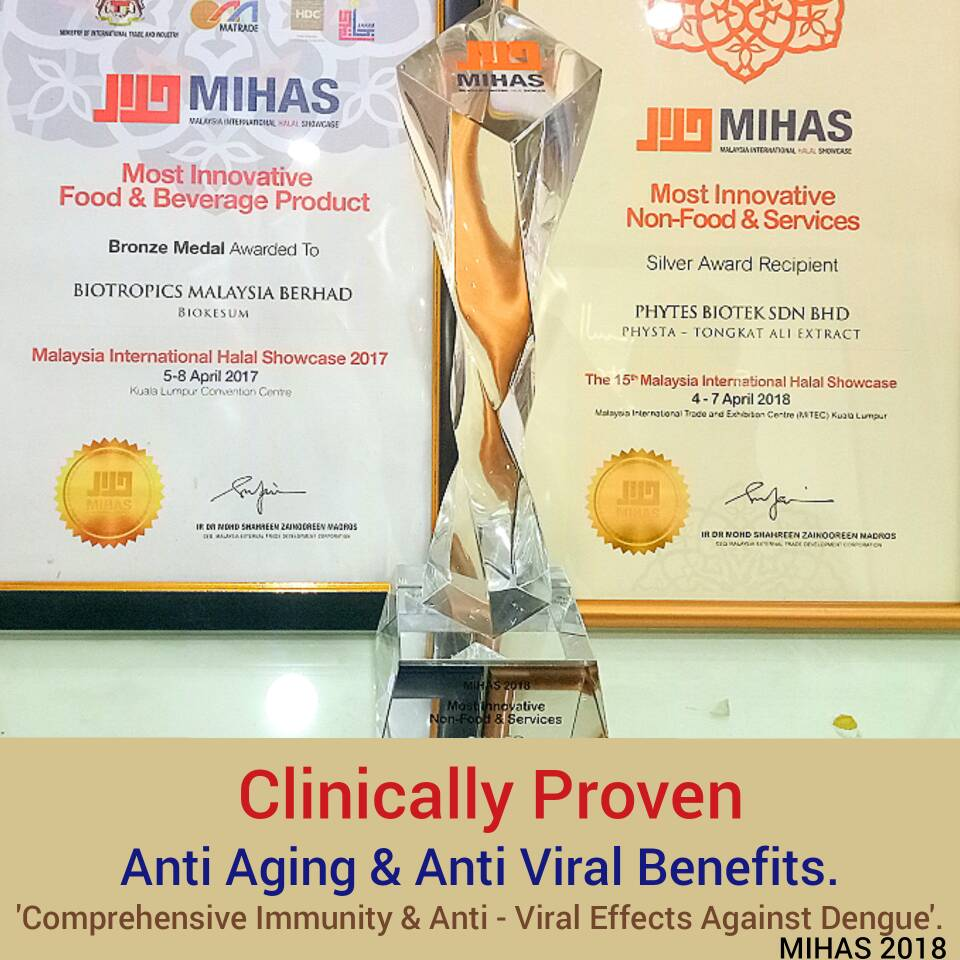 Perfect Supplement. Winner 'Most Innovative Non-Food and Service MIHAS 2018