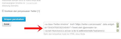 Code Widget Twitter