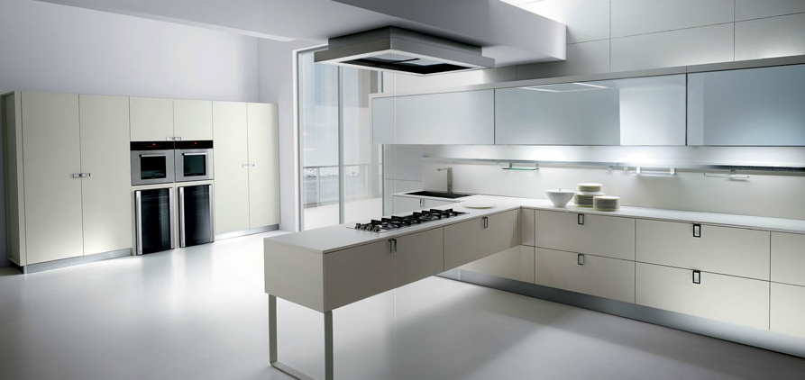 Cuando la zona de cocci n es el centro de mando cocinas - Cocinas minimalistas blancas ...