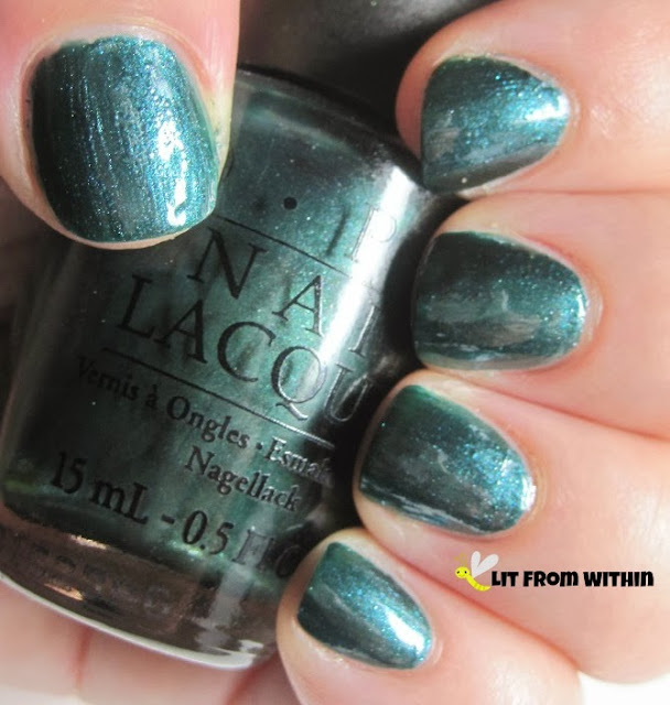OPI Cuckoo For This Color, a metallic teal