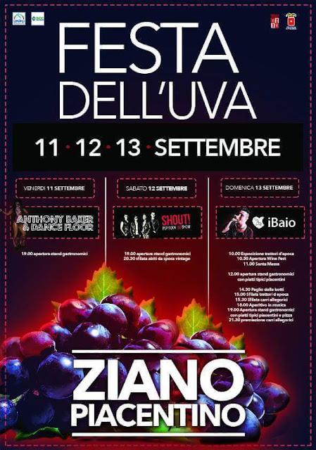Festa dell'uva dall'11 al 13 Settembre Ziano Piacentino (PC)