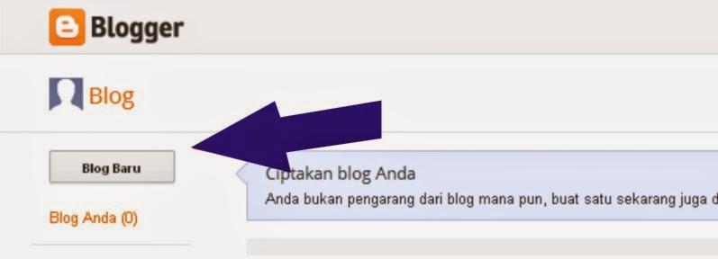 Cara Membuat Blog baru di Blogspot dengan mudah