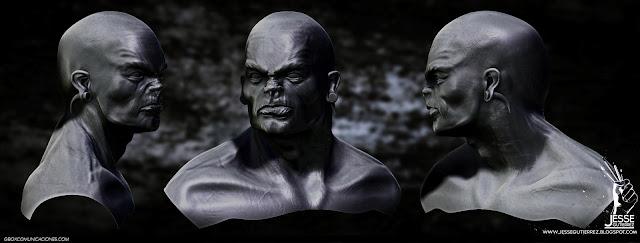 orco Escultura digital Orc Sculpture Jesse gutierrez art zbrush peru,artista peruano 3d diseño 3d