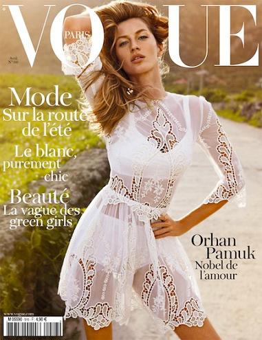 Gisele Vogue cover France April 2011 TENDÊNCIAS VERÃO 2012
