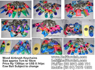 Airbrush Keychains from Bali