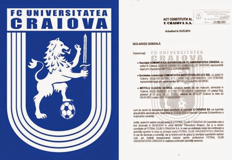 STIRI din SPORT LIVE: Fotbal Club Universitatea Craiova s-a reorganizat!!!