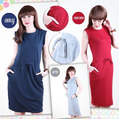Ghasa Comfy Sleeveless Mini Dress, Rp 115 Ribu,  Kode D124