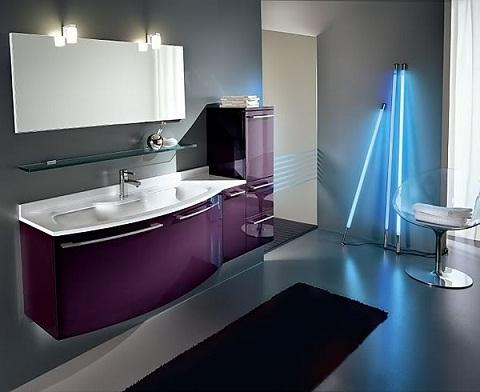 Mor+renkli+banyo+dolp+modeli Banyo Dekorasyonuna Özel Tasarımlar Eklendi