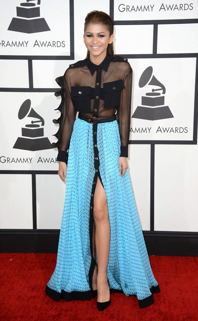 Zendaya coleman at the #grammys2014