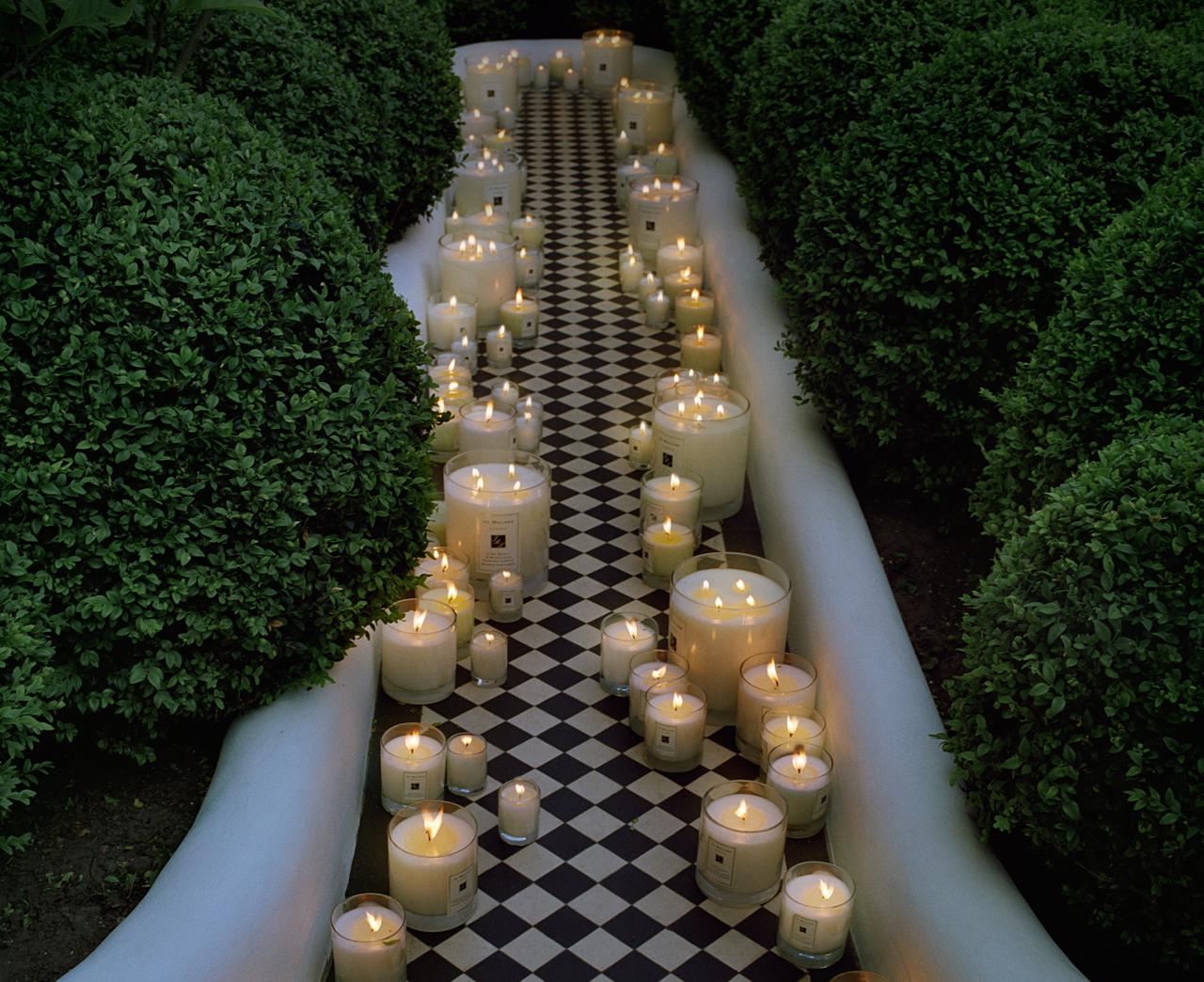 decorar o jardim:Como sempre imaginei: Decorar com velas o jardim
