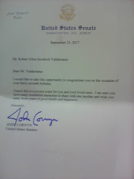 Carta Senador John Cornyn de TEXAS
