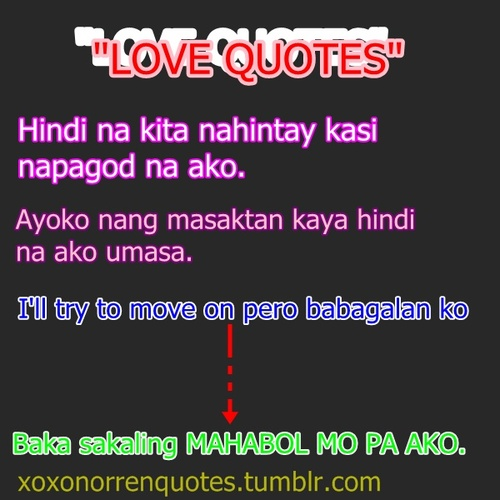 quotes on tumblr. Tagalog love quotes tumblr