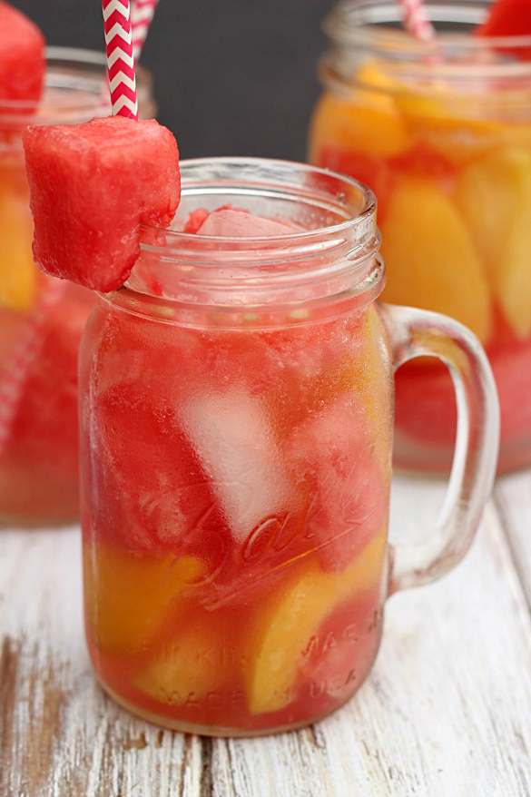 Watermelon Peach Spritzer - Whats Cooking Love?