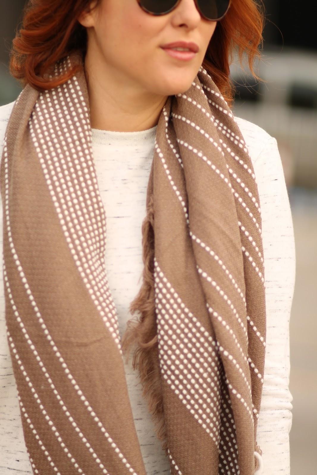 tan, blanket, scarf