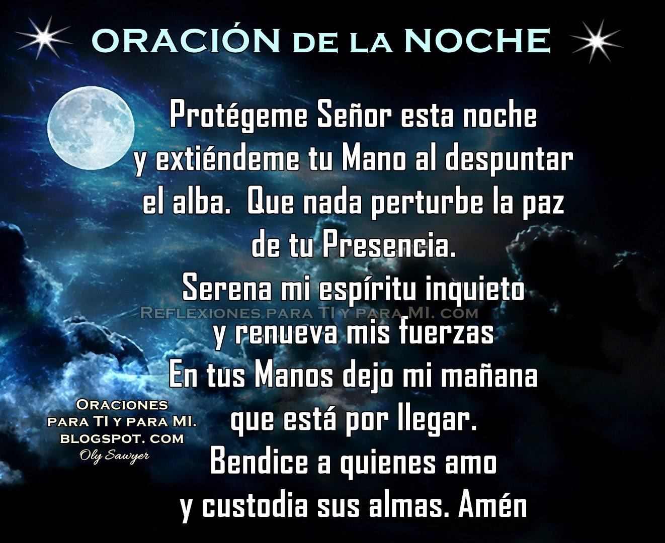 Oraciones para ti y para m prot geme se or esta noche for Que luna hay esta noche