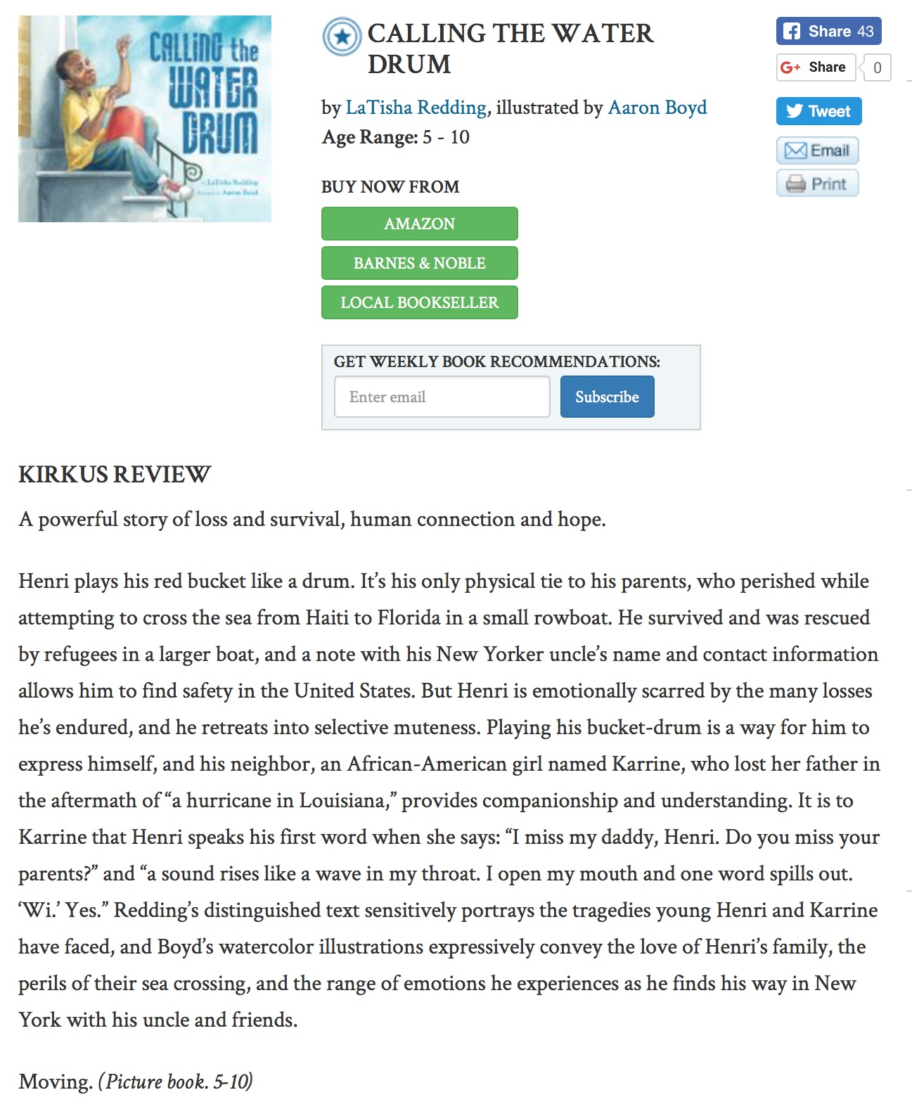 Kirkus Review is in