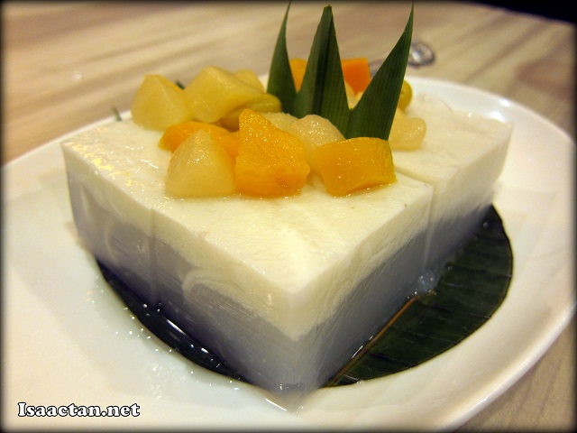 Coconut and Lemongrass Jelly with Passion Fruit