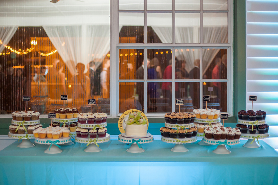 wedding cupcake bar