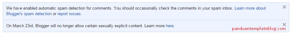 Aturan Baru Google Untuk Blogspot